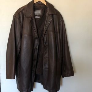 XL Wilsons brown leather jacket thinsulate